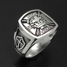 Men's 316l stainless steel Knight Templar ring