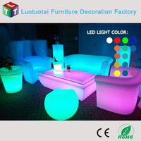 New design 48' 'PE led lighting bar table party furniture coffee table cocktail table LTT-TC06