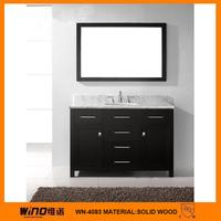 Rattan homebase black mirror cabinet bathroom