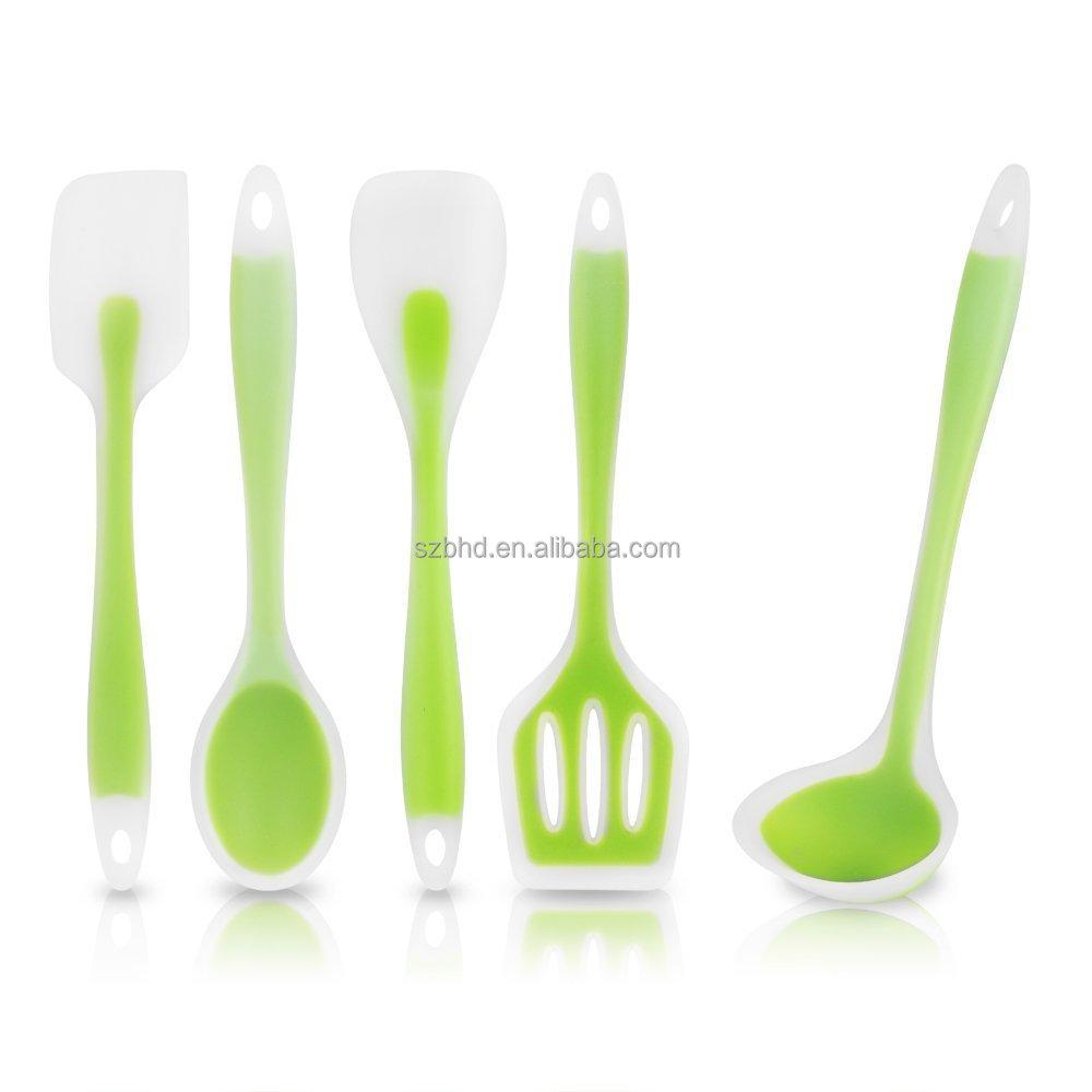 Premium Silicone Kitchen Utensils Set Of 5 Fda Silicone Spatula Set Silicon Spatula Buy