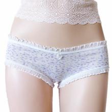 010-6 Junior student simple panties 2015 new design cheap print girls underwear SLO cotton young women briefs