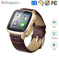 GPS tracking + WIFI + IP67 Waterproof 3G smart watch mobile phone with 1 year warranty