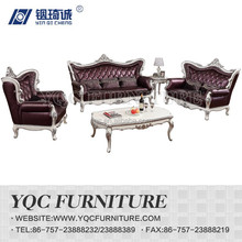 9253-1# hot sale italian style carving leather sofa with solid wooden