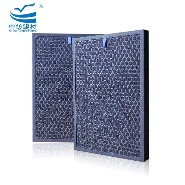 Odor Removal Honeycomb Activated Carbon Hepa Air Filter