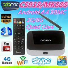CS918 RK3188 Android TV Box Amlogic chip M8 /MX Android Smart TV box RK3288 TV Box Android