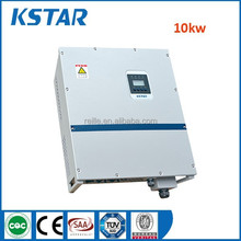 Kstar 10kw dc to ac solar grid tied inverter, 50/60hz CE approved three phase inversor solar