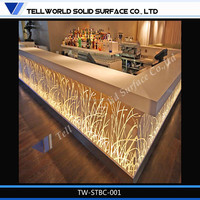 Top quality Factory price ready made bars counters, artificial stone bar counter