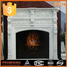 Wholesale in Guangzhou marble carved fireplace suites china quartz fireplace surrounding