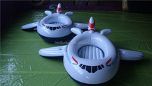 inflatable airplane pool float kids plastic paddle play boats baby swimming pool floating boat