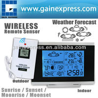 Digital Indoor Outdoor Wireless Weather Station/ Temperature Humidity Remote Sensor Date Radio Controlled Clock RCC DST F/C