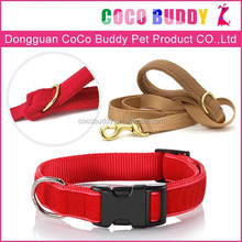 Chinese Supplier Best Price high quality Flocking pet trainer collar&leash for big dog