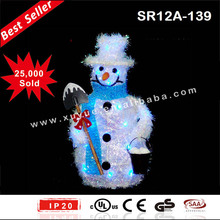 Battery operated Christmas Snowman party decorations with LED lights