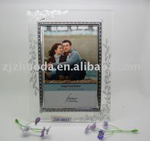 Classic elegant glass picture frame