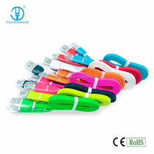 2015 Hot Sale 2 in 1 Stable Speed USB Data Cable, Phone LED data cable with dual input