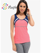 2015 New design gym tank tops cheap women's vest dry fit for sale