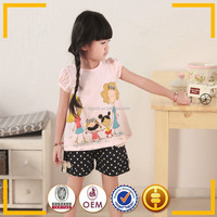 2015 hot sale children wear lovely pattern cotton kids wear for children t shirt