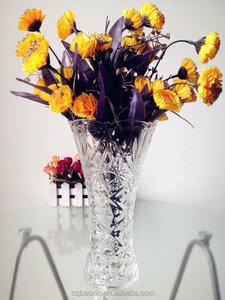 Manufactuer поставка различный typs тиснением стеклянная ваза для цветочная композиция ( стекольный завод )