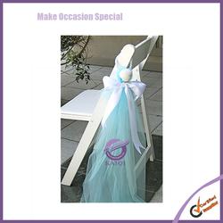 k6969 wholesale shell organza pendent chair sash bridal sash
