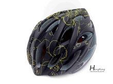 Black helmet sports safety open face helmet riding helmet