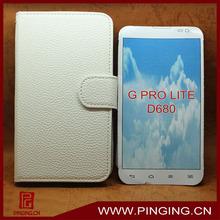 new model cell phone cover flip leather case for LG G PRO LITE D680