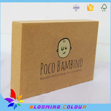 High grade thick cardboard baby bibs packaging box