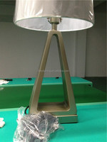 USA hotel guestroom lighting Resin table lamp with power outlet and switch