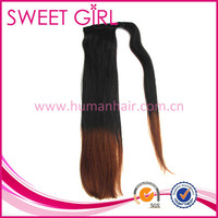 long adhesive tape in ombre color ponytail