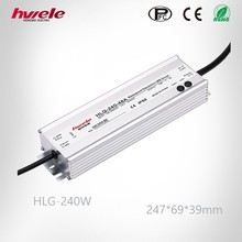 HLG 240W 12V/24V/36V/42V/48V/54V warterproof dimmable LED driver IP67 with CE ROHS KC approved