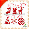 new arrival felt fabric red flower shape chirstmas tree decoration