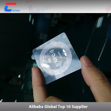 square shape passive 13.56mhz clear nfc tag