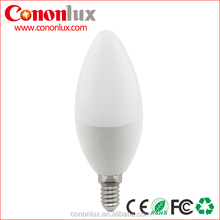energy saving E14 dimmable 3W 5W white ceramics ceiling decoration candle light