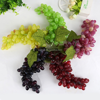 Artificial Grapes Bunches Plastic Fake Fruit Food Model Home Party Cabinet Decoration-Yiwu sanqi crafts factory