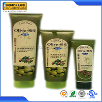 Custom printing wash care labels for olive oil bottles