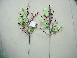 wholesaler decorative christmas fruit pick w/apple , pine ,pine cone ,berry