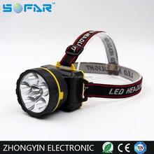 High power 6LED miner flashlight hunting head led miner light