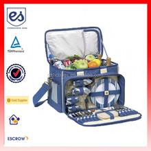 Newest Picnic Bag Set Eco-friendly Canvas Travel Bag (ESB-BS017)