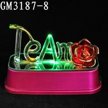 Led glass craft for party decoration