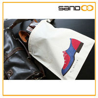 2015 New design factory Drawstring Cotton Shoe Bag