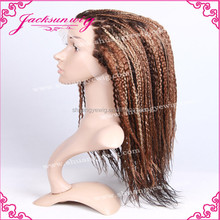 Braided Brazilian human hair wigs for black women sold in China wholesale market
