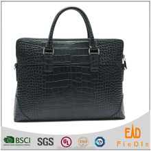 PB835-A4033-high Quality Men Shoulder Bag Genuine Leather Black Men Shoulder Briefcase
