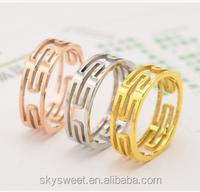 18k rose gold ring, titanium ring made in China(SWTJU396)