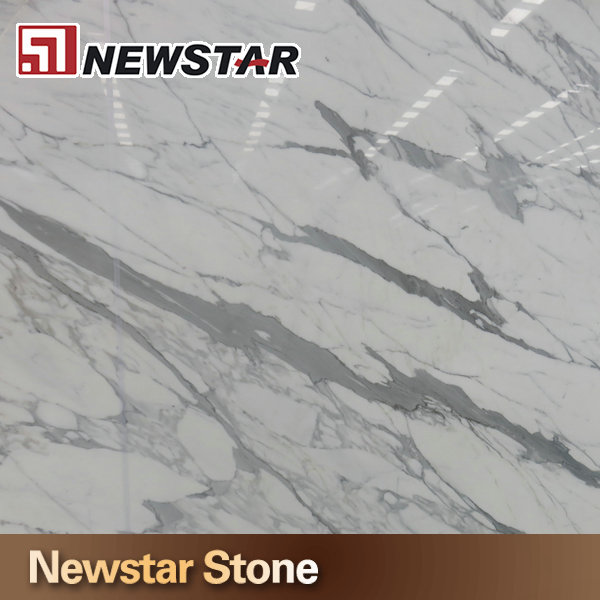 Newstar polished marmol statuario blanco marmol carrara for Marmol blanco real