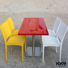 KKR new modern design center kitchen solid surface dining room table