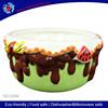 hot sale ice-cream design ceramic fruit plate , big vegetable plate,ceramic bowl