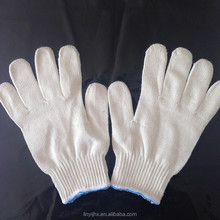 safety working natural rubber palm coated cotton glove industrial cotton glove