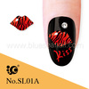 dongguan 3D red lips sex zebra nail art accessories wholesale