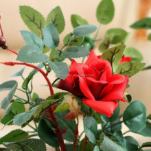 New Romantic Artificial Flowers Star Rose Leaf Silk Flower Home Wedding Party Floral Decor
