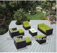 2014 Wicker furniture Green Outdoor Patio Living Room Sofa
