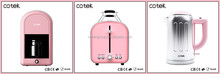 Kitchen Appliance Retro Design Drip coffee maker/ electric kettle/2-slice toaster with 36mm extra wide slots