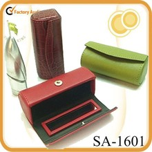 high quality retro leather lipstick case with mirror for makeup